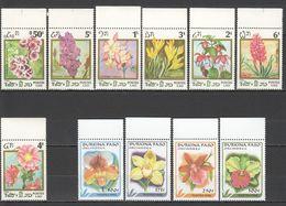 N838 1986,1996 BURKINA FASO LAO PLANTS FLOWERS ORCHIDS 2SET MNH - Plants