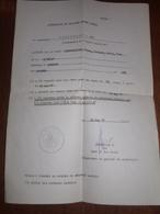 Armée Belge.Attestation De Milicien Assuré Social Habitant Enghien Pour Rappel Militaire De 13 Jours. - Documents