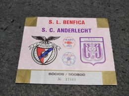 OLD TICKET PORTUGAL S.L. BENFICA - S.C. ANDERLECHT FINAL GAME TAÇA UEFA 1983 - Tickets - Entradas