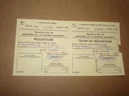 Armée Belge.Billet De Voyage En Train Pour Un Soldat De Léopoldburg à Enghien En 1977. - Documents