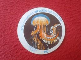 SPAIN ESPAGNE. ANTIGUO OLD CROMO ESTAMPA 110 CROMOJUEGO 1982 JELLYFISH MEDUSA MEDUSAS PECES Y ANIMALES MARINOS COSTA VER - Cromos