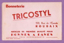 Buvard Tricostyl 159 Rue De L Epeule Roubaix Bonneterie Homme Et Dame - Textile & Clothing