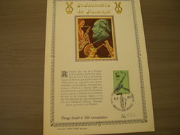 """BELG.1973 1684 FDC Bruxelles/Brussel  : Feuillet D'art Or Fin Limité à 400 Exemplaires (n°059) """"Adolphe Sax"""" - 1971-80"""