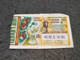 ANTIQUE PORTUGAL X2 LOTTERY TICKETS SANTA CASA DA MISERICORDIA LOTARIA NACIONAL 1985 - Lottery Tickets