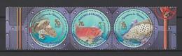 """Nouvelle Calédonie 2003 : N° 890-891-892 -  """" Aquarium De Nouméa """"  - Neufs ** - Trytique Avec Bord De Feuille - - New Caledonia"""