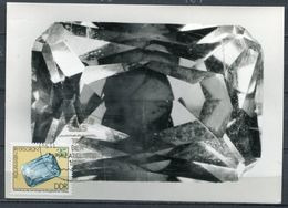 "DDR 1975 Photo Maxicard Minerale Mi.Nr.2010 Copyright MK""Minerale-Bergakademie Freiberg,Aquamarin""1 MK - Mineralien"