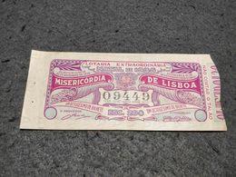 RARE ANTIQUE PORTUGAL LOTTERY TICKET LOTARIA EXTRAORDINARIA NATAL DE 1935 MISERICORDIA DE LISBOA 1935 - Lottery Tickets