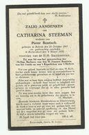 Doodsprentje  *  Steeman Catharina  (° Belcele 1847 /  + Ruiterskerk 1929)  X Bontinck Pieter - Godsdienst & Esoterisme