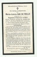 Doodsprentje  *  Van De Walle Maria-Leonia (° Waasmunster 1899 /  + Ruiterskerk 1926)  X Veelaert Hyppolytus - Godsdienst & Esoterisme