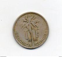 Congo Belge. 1 Franc. Albert Ier. Palmiers. 1923. Légende Flamande - Congo (Belge) & Ruanda-Urundi