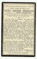 Doodsprentje  *  Schoonjans Pieter-Johannes (° Roeselare 1874 /  + Roulers 1924)  X Oosterlynck Bertha - Godsdienst & Esoterisme