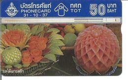Télécarte De THAILANDE Fruits Exotiques 50 Baht - Thaïlande