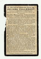 Oorlogsslachtoffer Roeselare1915  * Callebert Juliana (° 1842 ) Schoonjans Cecilia (° 1906 /dochter Petrus & Oosterlynck - Godsdienst & Esoterisme