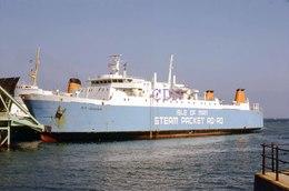 7X5 PHOTO OF NF JAGUAR I O M STEAM PACKET - Boats