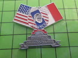 712e Pin's Pins / Beau Et Rare : Thème POMPIERS / JEUX MONDIAUX COLORADO USA 1993 - Firemen