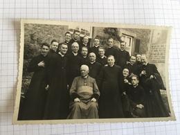 18G'' -  Photo Carte Curés Dont Celui Haut Le Wastia Religieux Avec évêque Monseigneur Heylen 1935 - Identified Persons