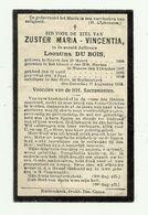 Doodsprentje  *  Zuster Maria-Vincentia - Du Bois Leontina (° Goyck 1865  /klooster Ninove /+ Ruiterskerk 1918) - Godsdienst & Esoterisme