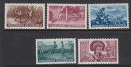 Liechtenstein 1941 Anbauwerk 5v Unused Regummed (39551M) - Unused Stamps