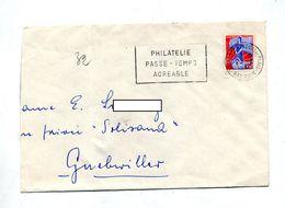 Lettre Flamme Strasbourg Philatelie Passe-temps - Oblitérations Mécaniques (flammes)