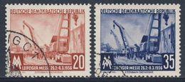 DDR Germany 1956 Mi 518 /9 YT 239 /0 Used - Eisenbahndrehkräne / Schienendrehkräne / Mobile Cranes - Treinen