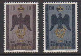 Liechtenstein 1955 150J Souveränes Liechtenstein 2v Unused Regummed (39551P) - Liechtenstein