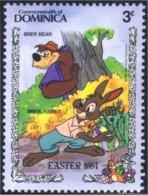 308 Dominica Disney Easter Rabbit Lapin Paques MNH ** Neuf SC (DMN-30d) - Konijnen