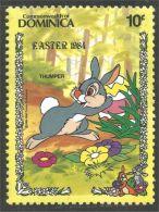 308 Dominica Disney Easter Rabbit Lapin Paques Thumpoer PanPan MNH ** Neuf SC (DMN-33) - Konijnen