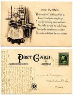 United States 1912 Postcard Mine Mudder Illustrated - Comics