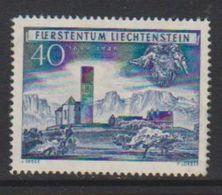 Liechtenstein 1949 250 Jahrfeier Unterland 40Rp ** Mnh (small Spot In Gum) (39552A) - Unused Stamps
