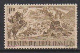 Liechtenstein 1942 600-Jahrfeier 1Fr ** Mnh (small Albumwrinkle) (39552B) - Unused Stamps