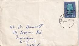 STE  HELENE 1963 LETTRE DE TRISTAN DA CUNHA - Saint Helena Island