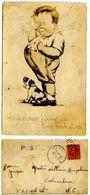United States 1925 Postcard Comic Boy & Dog, Matthews North Carolina Pmk - Comics