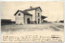 """1 Cpa Jouy Le Chatel """"La Gare"""" """"pionnière 1903"""" - France"""
