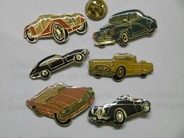 Pin's - AUTOMOBILES - Lot De 6 Anciennes Voitures De Sport - Badges