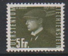 Liechtenstein 1948 Airmail / Flugpost 5Fr  Wilbur Wright Unused Regummed (39552D) - Air Post