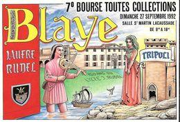 ILLUSTRATEUR ...BERNARD VEYRI..   BLAYE ....7° BOURSE TOUTES COLLECTIONS...1992...  TBE  SCAN - Veyri, Bernard