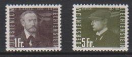 Liechtenstein 1948 Airmail / Flugpost 1fr Unused Regummed /  5Fr * Mh (=mint,hinged) (39552E) - Air Post