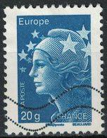 France 2011 Oblitéré Used Marianne De Beaujard 20 Gr Europe Bleu Y&T 4567 - 2008-13 Marianne (Beaujard)