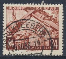 DDR Germany 1953 Mi 380 YT 113 Used - Messegelände, Bagger / Mechanical Grab - Leipziger Herbstmesse - Transportmiddelen