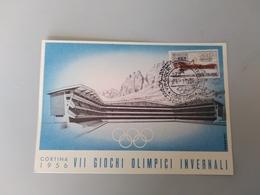 CARTOLINA CORTINA - VII GIOCHI OLIMPICI INVERNALI 1956 - Belluno