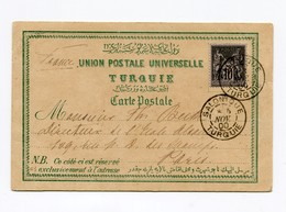 !!! PRIX FIXE : CACHET SALONIQUE - TURQUIE DE 1900 SUR CPA DE CAVALLE - Levant (1885-1946)