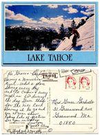 United States 1987 Postcard Lake Tahoe - Skiing - Winter Sports