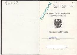 AUSWEIS Für Studierende - Historische Dokumente
