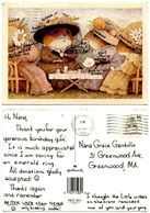 United States 1987 Postcard Illustration Of Dressed Mice At A Tea Party - Comics