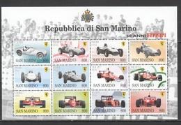 H907 1998 SAN MARINO TRANSPORT CARS FERRARI 1SH MNH - Voitures
