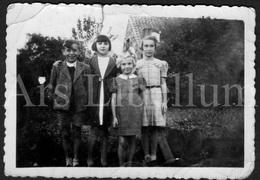 Photo Ancien / Foto / Photograph / Photo Size: 6.30 X 9 Cm. / Children / Enfants / Stambruges / Famille Haubourdin - Personnes Identifiées