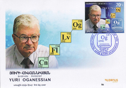 Armenia Arménie Armenien 2017 FDC Yuri Oganessian Physics Mathematics Academician New Chemical Element Of Mendeleev Og - Armenia