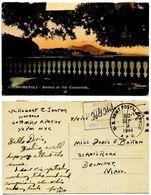 Italy 1944 Postcard Naples - Riviera Di Via Caracciolo, U.S. Army APO 512, WWII - Brieven En Documenten
