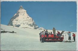 Zermatt - Raupenfahrzeug (Rolba) Schwarzsee, Theodulpass, Mit Matterhorn, Animee - Photo: Rud. Suter - VS Valais