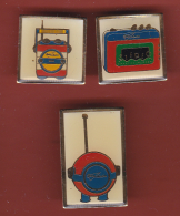 53177-lot De 3 Pin's.collection Junior.audio... - Trademarks